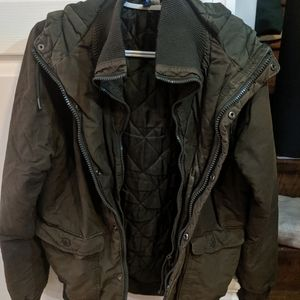 Divided by h and m utility military jacket